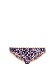 Stella Mccartney Jojo Wishing Leopard Flocked Briefs Blue Multi