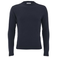 American Vintage Men's Sycamore Cashmere Mix Knitted Jumper Ink Blue