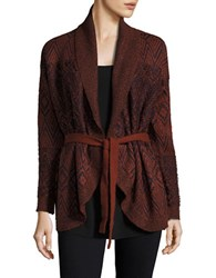 Vero Moda Patterned Cardigan Fired Brick