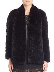 Joie Sela Two In One Rex Rabbit Fur Jacket Caviar