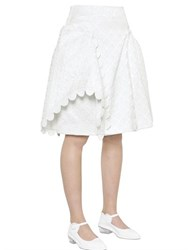 Simone Rocha Quilted Cotton Brocade Skirt