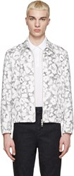 Neil Barrett White And Black Leopard Stripe Jacket