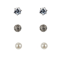 John Lewis Pack Of Three Earrings Set