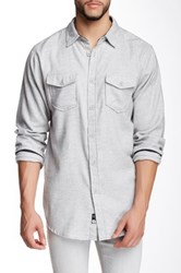 Burnside Solid Long Sleeve Shirt Beige