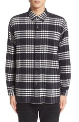 Tomorrowland Men's Plaid Brushed Cotton Shirt