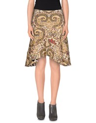 Just Cavalli Skirts Knee Length Skirts Women Ocher