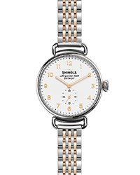 Shinola Canfield Bracelet Watch 38Mm White