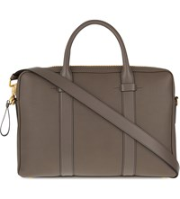 Tom Ford Buckley Leather Briefcase Slate