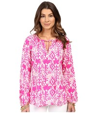 Lilly Pulitzer Willa Top Magenta Tons Of Fun Women's Clothing Pink