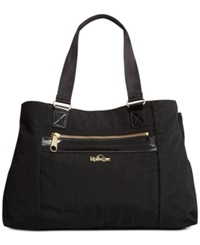Kipling Always On Collection Kellyn Tote Black Patent Combo