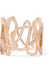 Repossi White Noise 18 Karat Rose Gold Diamond Ring