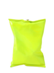 Anya Hindmarch Crisp Packet Neon Enameled Metal Clutch Neon Yellow