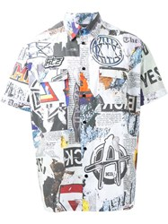 Ktz 'Newspaper' Print Shirt Multicolour