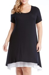 Plus Size Women's Karen Kane Layered Handkerchief Hem A Line Dress