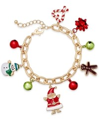 Charter Club Gold Tone Holiday Charm Bracelet Only At Macy's