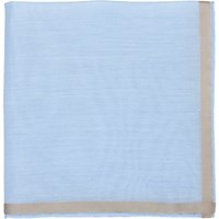Simonnot Godard Men's Satin Border Handkerchief No Color
