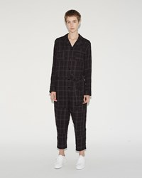 Hope Flyer Jumpsuit Black Check