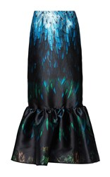 Romance Was Born Tail Feather Bubble Skirt Print