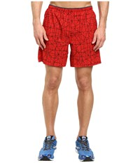 Brooks Sherpa 7 2 In 1 Shorts Lava Tangent Men's Shorts Red
