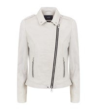 Set Leather Biker Jacket Female White