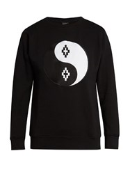 Marcelo Burlon Pissis Crew Neck Sweatshirt Black White