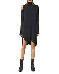 Allsaints Cecily Turtleneck Dress Cinder Black Marl
