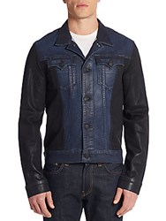 True Religion Danny Denim Moto Jacket Blue