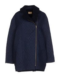 Sessun Coats Dark Blue