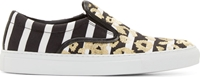 Mother Of Pearl Black And White Leopard Achilles Sneakers
