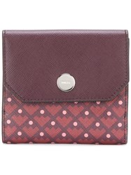 Bally Geometric Pattern Purse Pink And Purple
