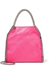 Stella Mccartney The Falabella Mini Faux Brushed Leather Tote Pink