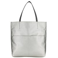 John Lewis Kin By Katie Mixed Texture Shoulder Bag Silver