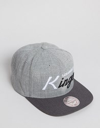 Mitchell And Ness Snapback Cap Tri Pop La Kings Grey
