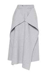 Maison Rabih Kayrouz Origami Wool Skirt Light Grey
