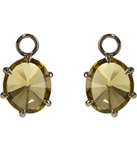 Annoushka 18Ct White Gold And Olive Quartz Earring Drops
