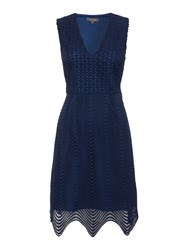 Pied A Terre Kiara Lace Bodycon Dress Navy