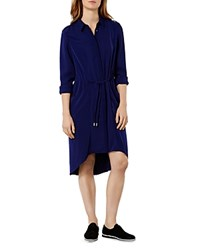 Karen Millen Drawstring Shirt Dress Navy