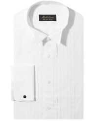 Michelsons Of London Pleated Wing French Cuff Tuxedo Shirt