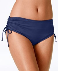 24Th And Ocean Tummy Control Side Tie Bikini Bottom Women's Swimsuit Navy