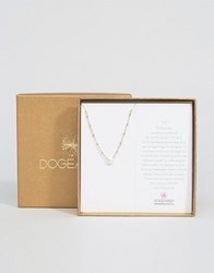 Dogeared Gold Plated Pearls Of Love On Beaded Chain Limited Edition Boxed Necklace Silver