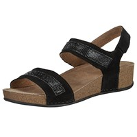 John Lewis Diamond Two Strap Sandals Black
