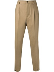 Melindagloss Button Cuff Trousers Nude And Neutrals