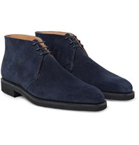 George Cleverley Nathan Suede Chukka Boots Navy