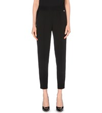 Ted Baker Tapered Mid Rise Crepe Trousers Black