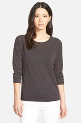 Nic Zoe 'Chord' Knit Crewneck Sweater Gray