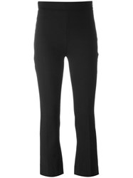 Iro Cropped Bootcut Trousers Black