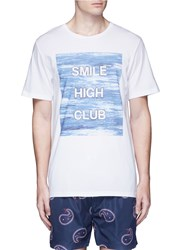 Insted We Smile 'Smile High Club' Print T Shirt White