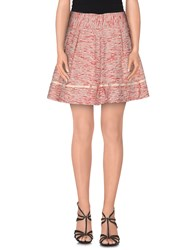 Met And Friends Skirts Mini Skirts Women Red