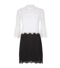 Pinko Embroidered Lace Dress Female White