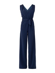 Maiocci Collection Draped Jumpsuit Navy